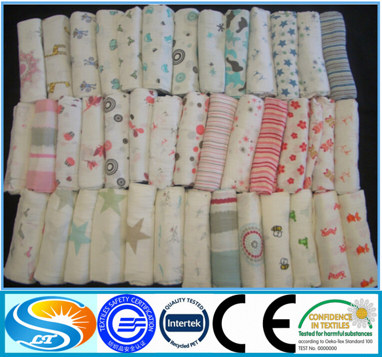 in stock hot sales cotton muslin fabric for <strong>baby</strong>