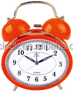 Hot Sale New Style Pretty Double Bell Medal Table Alarm Clock