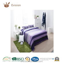 bed linen 2018 new design 100% polyester various colour stripe printed bed cover,duvet cover,hotel bed linen