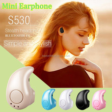 2017 New Products High Quality IN-Ear Hidden MINI Wireless Bluetooth 4.0 Stereo Earphone Headphone S530