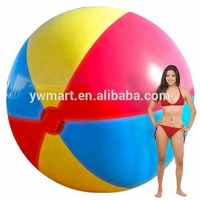 Summer outdoor water play roll super inflatable big beach ball
