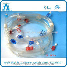 Arterial and venous line hemodialysis blood tubing set