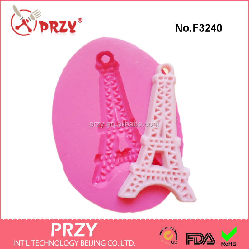 43mm Eiffel Tower cake decoration mold Silicone flexible Mold silicone fondant mold