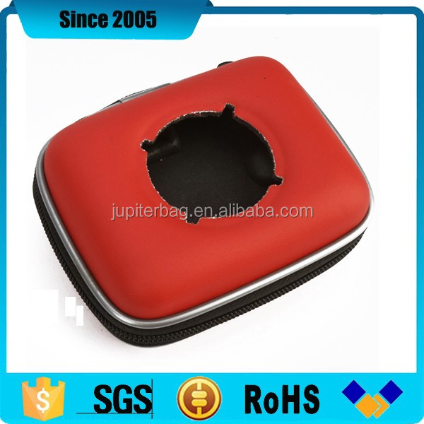 red pu cover dj round system eva speaker box case