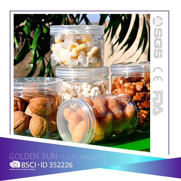 Professional Chinese Supplier High Toughness plastic cookie jar/plastic candy jar/Plastic Jar with lid