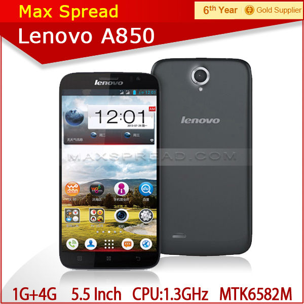 Lenovo A850 MTK6582 Quad Core 5.5 inch Android 4.2 OS IPS Screen yestel mobile phone
