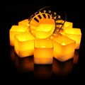 Weeding decoration LED square shape Candle yellow flame flicker tea light