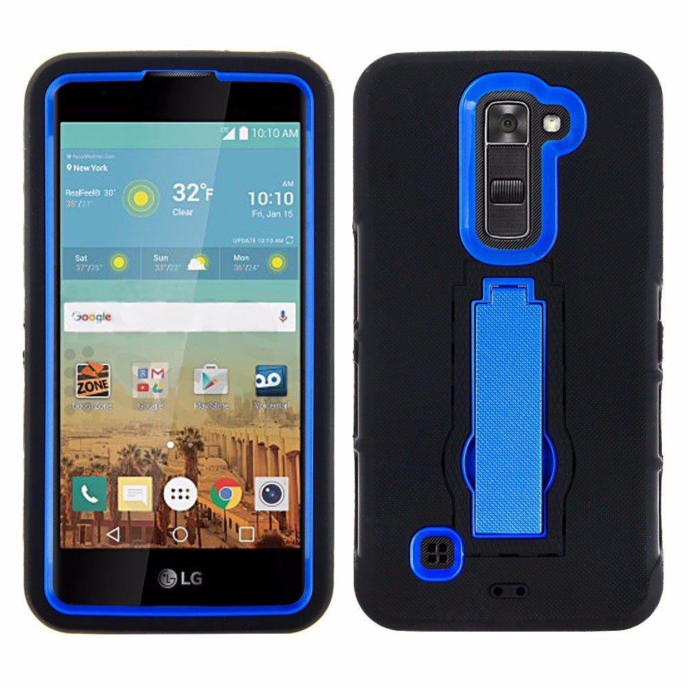 2016 Best Quality Hard Plastic Soft Skin TPU SmartPhone Kickstand Case for lg stylos 2 plus