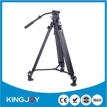 Aluminum material film shooting equipment,video tripod with head