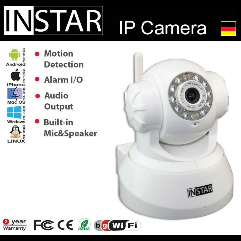 Wireless indoor IP Camera with IR Nightvision