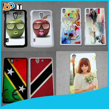 2D 3D image covered case for sony xperia c case back cover with any design