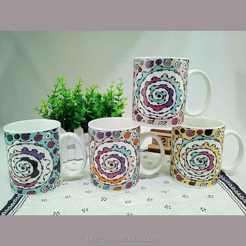 11OZ plain fine promotional new bone china mik water tea coffee mugs and cups with OEM decal Logo