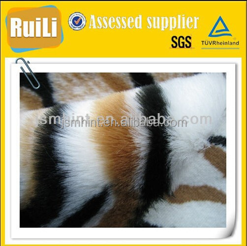fake fur/faux fur tiger pattern jacquard 150cm wide fabric by the yard
