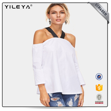 2016 low price ladies off shoulder tops latest design casual tops for ladies