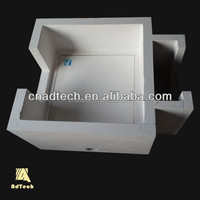 High density and high strength molten aluminum purification filter box