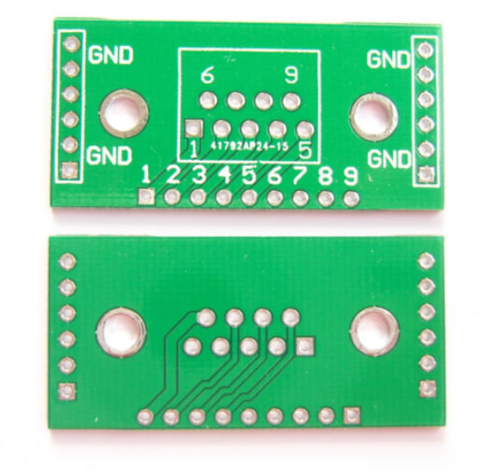 DB9 DR9 to DIP Adapter PCB Board Converter