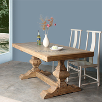 manufacturer solid wood material popular classic design wood rustic furniture dining table