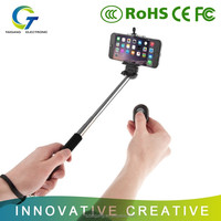 Mini portable wireless bluetooth selfie stick for all smart phones