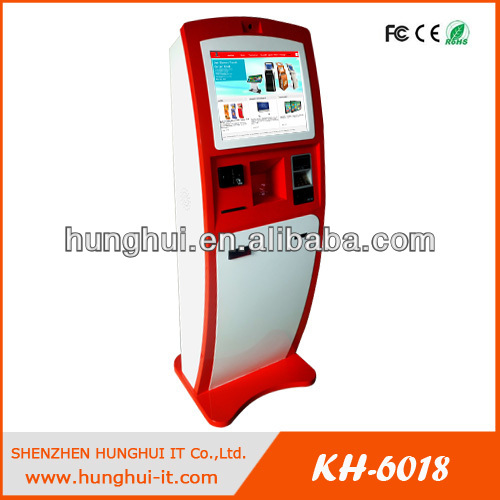 touch screen self payment kiosk credit card