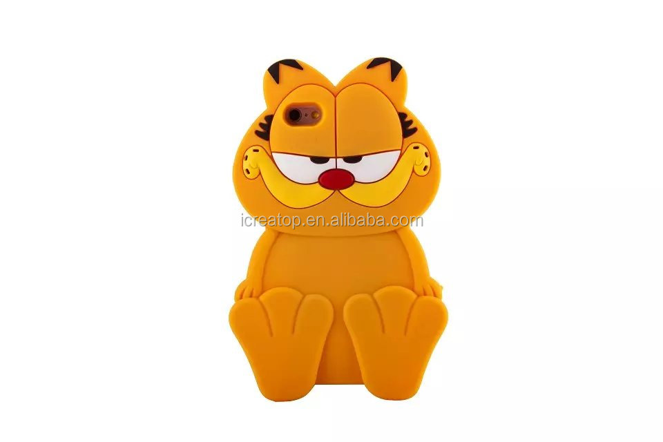 Garfield phone case ,silicone cartoon case for phone