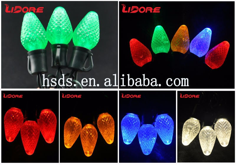 LIDORE Unique Outdoor Decoration LED C7 string light