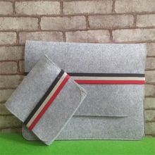 Laptop Sleeve Type wool felt bag/pouch tote bag Customized
