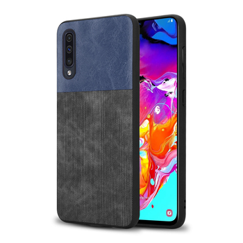 Fabric Phone Back Cover Soft TPU Case For Samsung Galaxy A70