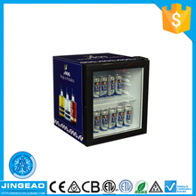 Ningbo supplier great quality great price glass front fridge