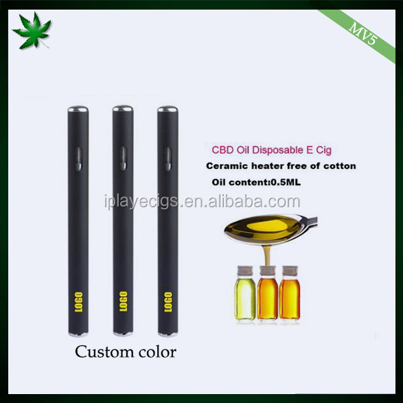 Quality ceramic coil .5ml disposable vape pen iPlay MV5 CBD oil vaporizer