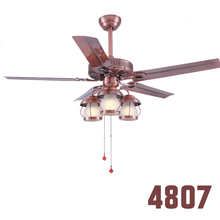42 48 52 3 Lamps Wall Control Retro Ceiling Fan
