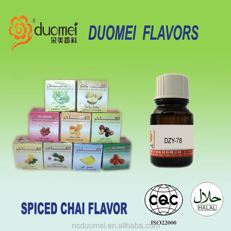 Spiced chai flavor artificial liquid fragrance concentrated flavor for hookah