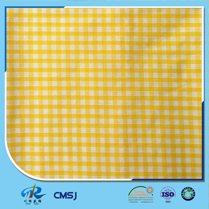 Wholesale plaid 80 polyester 20 cotton yarn dyed fabric for shirts