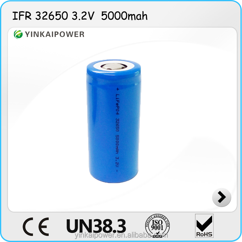 hot selling 26650 5000mah IFR lifepo4 battery rechargeable for electric equipment