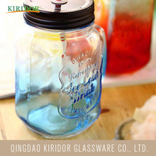 2018 Hot Selling 15oz drinking glass mason jar 14oz storage 100ml with handle on sale