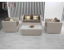 4-pc white outdoor furniture modern rattan sofa set