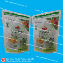 160g food Stand up vacuum Plastic packing dried fruit zip bag