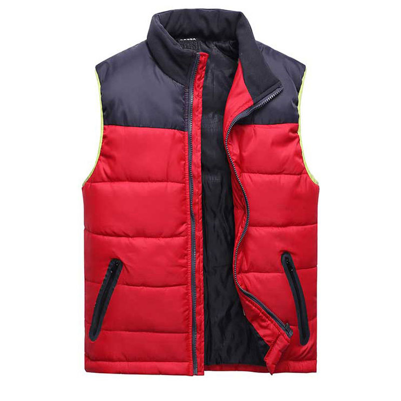New Men tank top cotton red slim fit vest casual eiderdown cotton mens coat sleeveless jacket masculina waistcoat outdoor #9024
