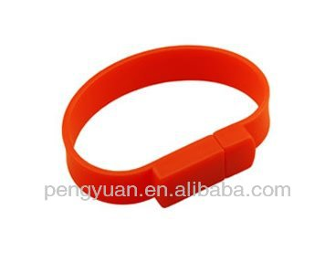 (PY-U-027) Sports bracelet usb flash disk in various colors and logos