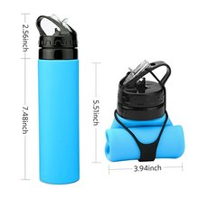 Roll Up Cup for Outdoors Foldable Silicone water Bottle