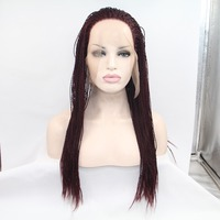 Afro Hair Styles Synthetic Afro Braid African American Long Wigs