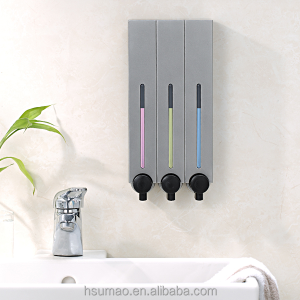 Hanging shower gel dispenser and container bottle