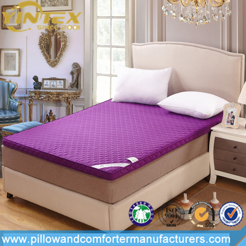 233 TC Down-proof 100% cotton fabric Duck down feather mattress topper - Jozy Mattress | Jozy.net