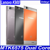 New Original Lenovo K900 phone Russian smartphone dual core 2GHZ 16GB /32GB Intel z2580 CPU 5.5 inch 1080P Screen