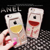 Fancy Stones Cup Wine TPU Crystal Soft Phone Case Cover for iPhone 6 6 plus