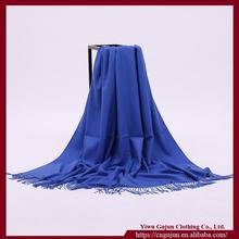 Wholesale Polular Lady Autumn Winter Thermal Warm Blue Cashmere Shawl Cape