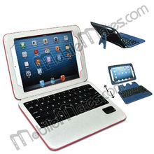 New Arrivals Wireless Bluetooth Keyboard+Detachable Magnetic PU Leather Case for iPad Mini with Bracket