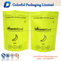 Resealable laminated multipe layer aluminum foil plastic packaging bags