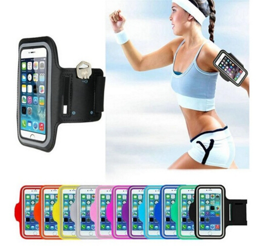 Porta Celular de Esporte Waterproof Sports Running Armband Case Workout Arm Band Key Holder Pouch for iPhone 4 4S 5S 6S 7S Plus