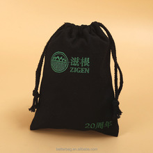 high quality 10 OZ cotton drawstring bags 100% cotton canvas tote bags