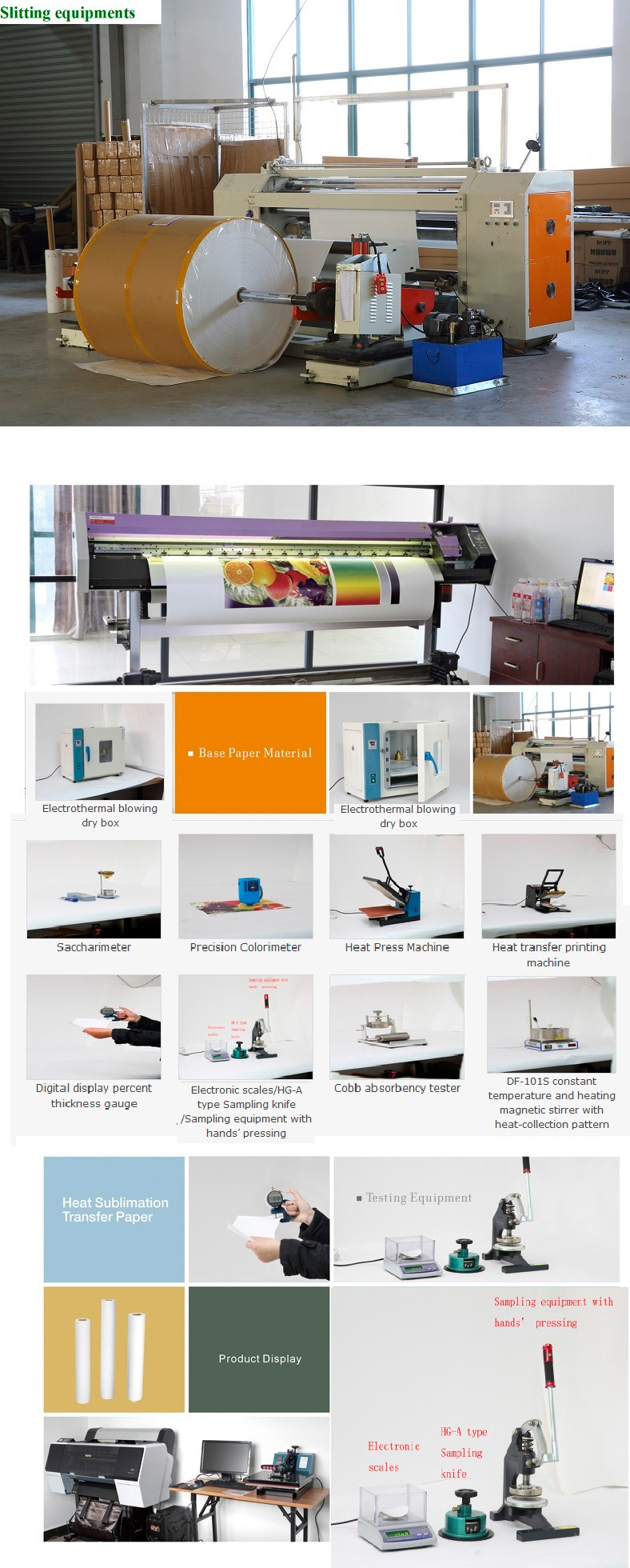 Large Format 1.8m width Non-curl 100gsm Fast Dry Sublimation Paper for Advertising Printing